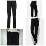 Брюки штаны леггинсы плотные женские классика черные