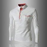 Рубашка в горошек M- XXL белая