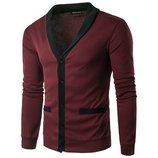 Свитер, кофта бордовый с карманами M-XXL