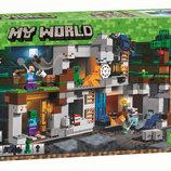 Конструктор Bela 10990 Приключения в шахтах 666 дет аналог Lego Майнкрафт, Minecraft 21147