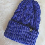 Вязная шапка, женская шапка, тёплая шапка