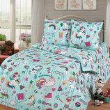 Единороги Dreams - стильное детское постельное белье для девочек 100% хлопок