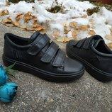 Новые кожаные кроссовки сникерсы Ecco S7 Teen. разм.27