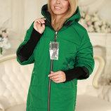 Современная Демисезонная куртка с отстегивающимися рукавами 50-58рр