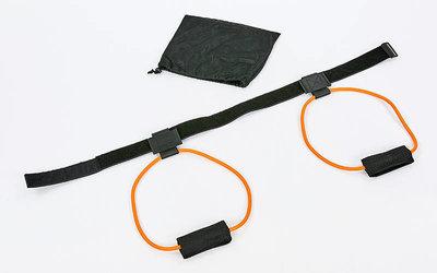 Тренировочная система боксера с поясом 6952 2 резиновых жгута пояс