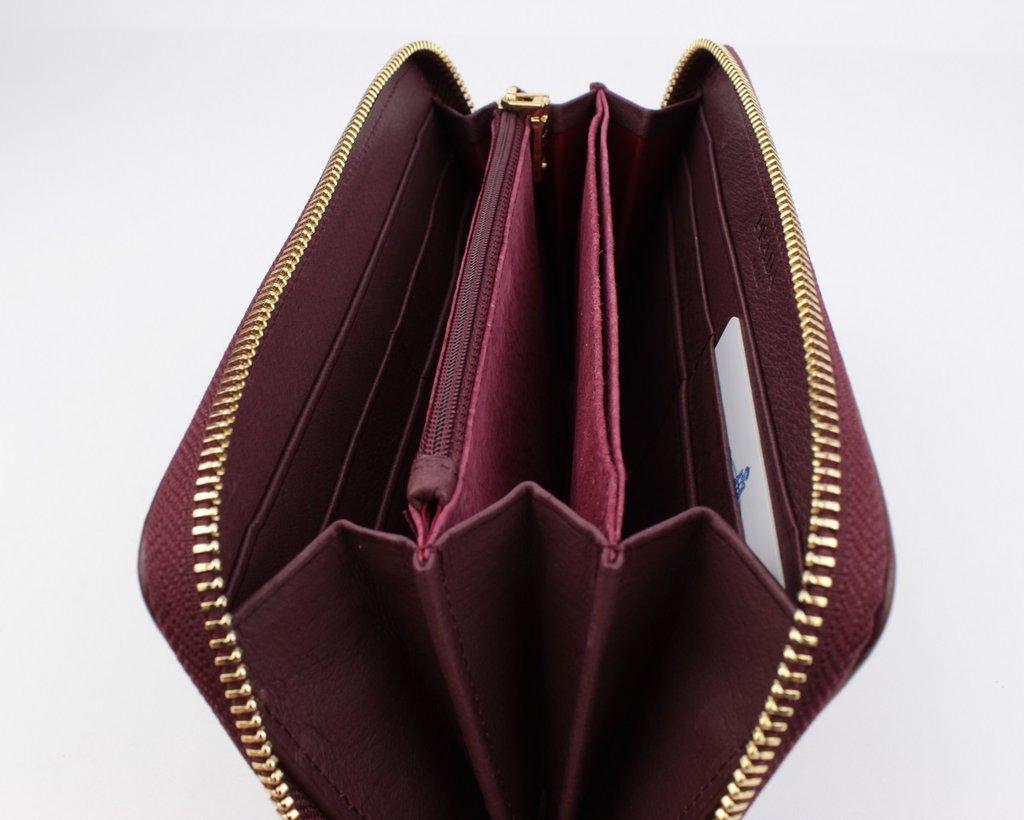32f718cc1a8c Кошелек женский кожаный на молнии prada 60019-с темно-бордовый марсала :  928 грн - кошельки в Одессе, объявление №20092492 Клубок (ранее Клумба)