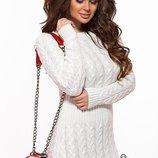 Вязаное встильное женское платье