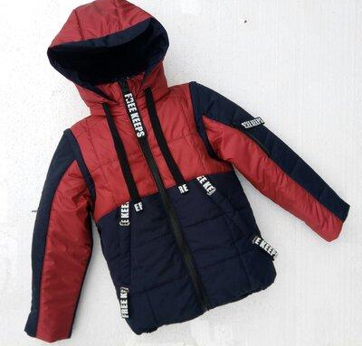 Весенняя Куртка-Трансформер для мальчика, кирпичный, весна 2019