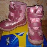 Термо сапоги B&G 28р бордовый и розовый цвет теплющие