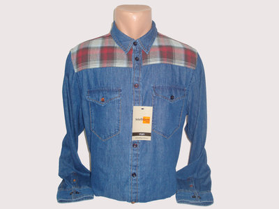 Мужская джинсовая рубашка с длинным рукавом Intelligent Piazza Italia . Разные цвета.