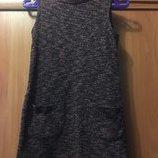Вязаное трикотажное платье 5-6 лет