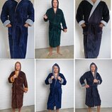 Мужской мягкий махровый халат, длинный , р-р 46-58