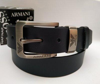 Ремень armani из качественной натуральной кожи