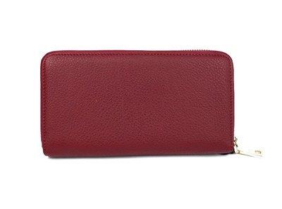 9e9a3a581a4d Кошелек кожаный женский на молнии красный Prada 60019. Previous Next