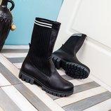 Женские ботинки с трикотажем, деми