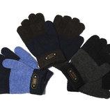 Демисезонные вязаные перчатки для мальчиков Спорт на 5-7 и 7-9 лет