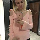 Мегакрутая кофта свитер свитшот/ открытые плечи/ розовый/в рубчик/тренд сезона актуально
