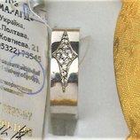 Кольцо перстень новый серебро 925 проба размер 19 вес 3,19 гр.