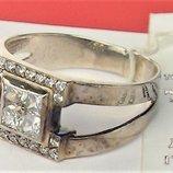 Кольцо перстень новый серебро 925 проба размер 18.5 вес 3,39 гр.