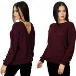 Красивейший вязаный свитер с открытой спиной, р. 46-48 цвета