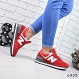 Кроссовки женские New Balance , спортивная обувь красние цвет