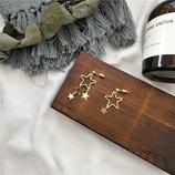 Серьги Collection Звезды цвет золото