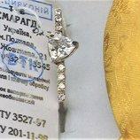 Кольцо перстень новый серебро 925 проба размер 18.5 вес 2.46 гр.