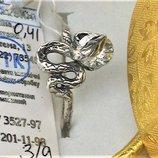 Кольцо перстень новый серебро 925 проба размер 18.5 вес 3.17 гр.