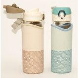 Бутылка Для НапитковСтеклянная С Поилкой В Чехле T92-4 4