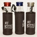 Бутылка Для НапитковСтеклянная В Чехле T92-3 5