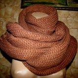 Длинный шарф крупной вязки ZARA унисекс 38х200 новый