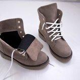 Женские ботинки на шнуровке, деми