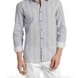 Мужская рубашка светло-серая LC Waikiki / Лс Вайкики в синюю полоску