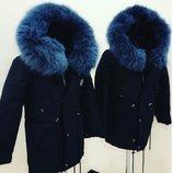 Детская парка с мехом зима. Куртка-Парка для мальчика/девочки. Турция