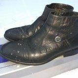 Стильние цигейка нарядние кожание ботинки сапоги L-Style.40