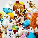 Разные мягкие игрушки,от самых маленьких до больших, разные минимальные цены