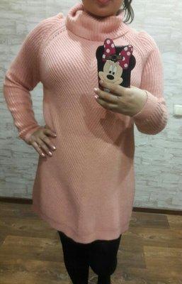 Платье свитер вязанное размер 12-14