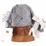 Теплый вязаный свитер 42/46 пять расцветок