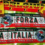 Шарф яркий с символикой страны Бельгии и Италии