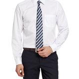 Мужская рубашка белая LC Waikiki / Лс Вайкики в мелкий атласный ромбик