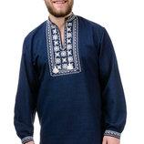 Мужская сорочка вышиванка вышитая рубашка, р. 44-54