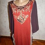 платье-туника вискозная, стильная модная р14 маломерит