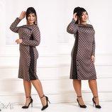 Платье в горошек XL ангора флям