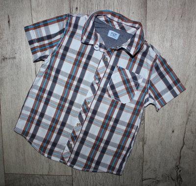 Нарядная стильная шведка рубашка f&f 2-3 года, рост 92-98 см.