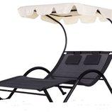 Лежак садовый шезлонг козырек, кресло, гамак, лежанка. Польша. Ar