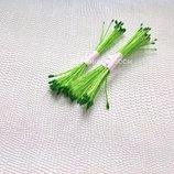 Тычинки тайские мелкие зеленые на салатовый нити -25 нитей 50 головок -4 грн.пучок