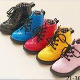 Стиляжные лакированные ботинки dr.Martens