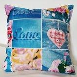 Стильная романтичная, мягкая декоративная подушка