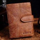 Кожаный коричневый мужской кошелек натуральная кожа