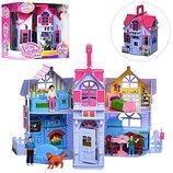 Большой игрушечый домик,фигурки мебель,домик для кукол,кукольный домик